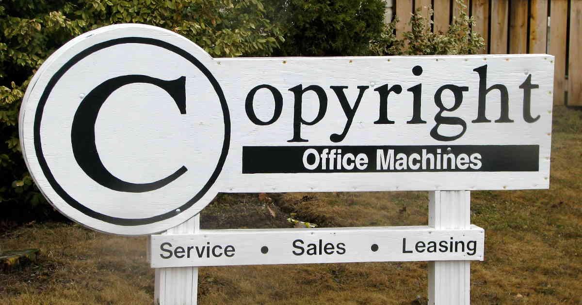 insegna copyright