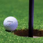 Fare centro con una pallina da golf, come per un discorso di successo