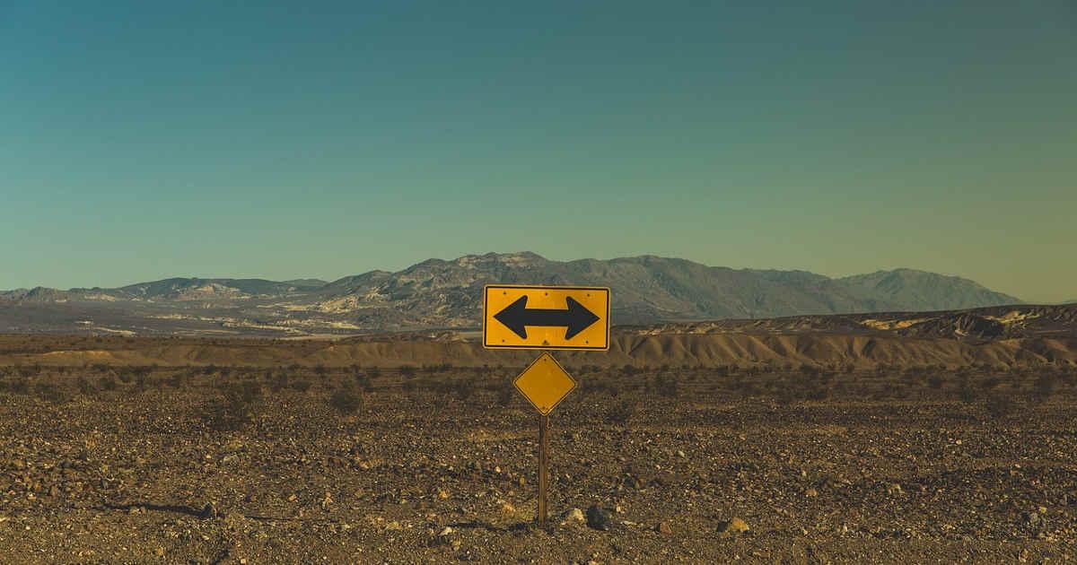 Frecce di direzione a destra e a sinistra