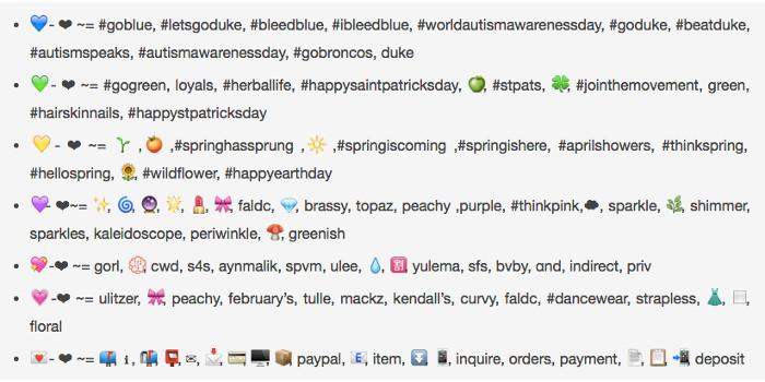 Significato dei cuori colorati utilizzati su Instagram