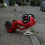 Triciclo ribaltato