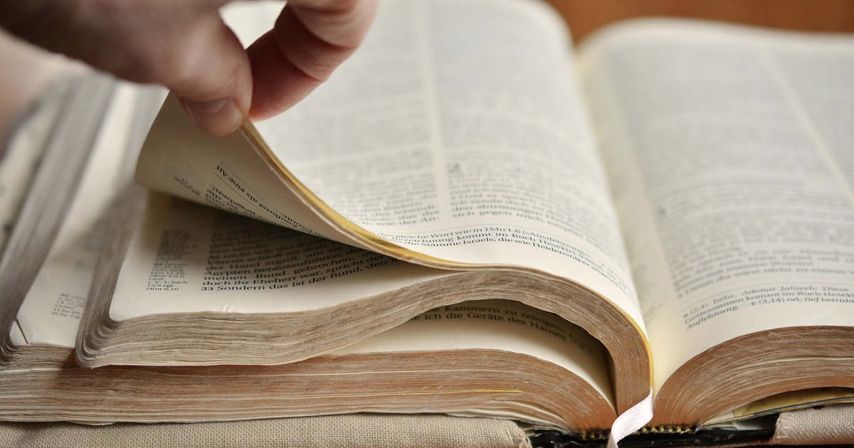 Pagine di un libro sfogliate da una mano