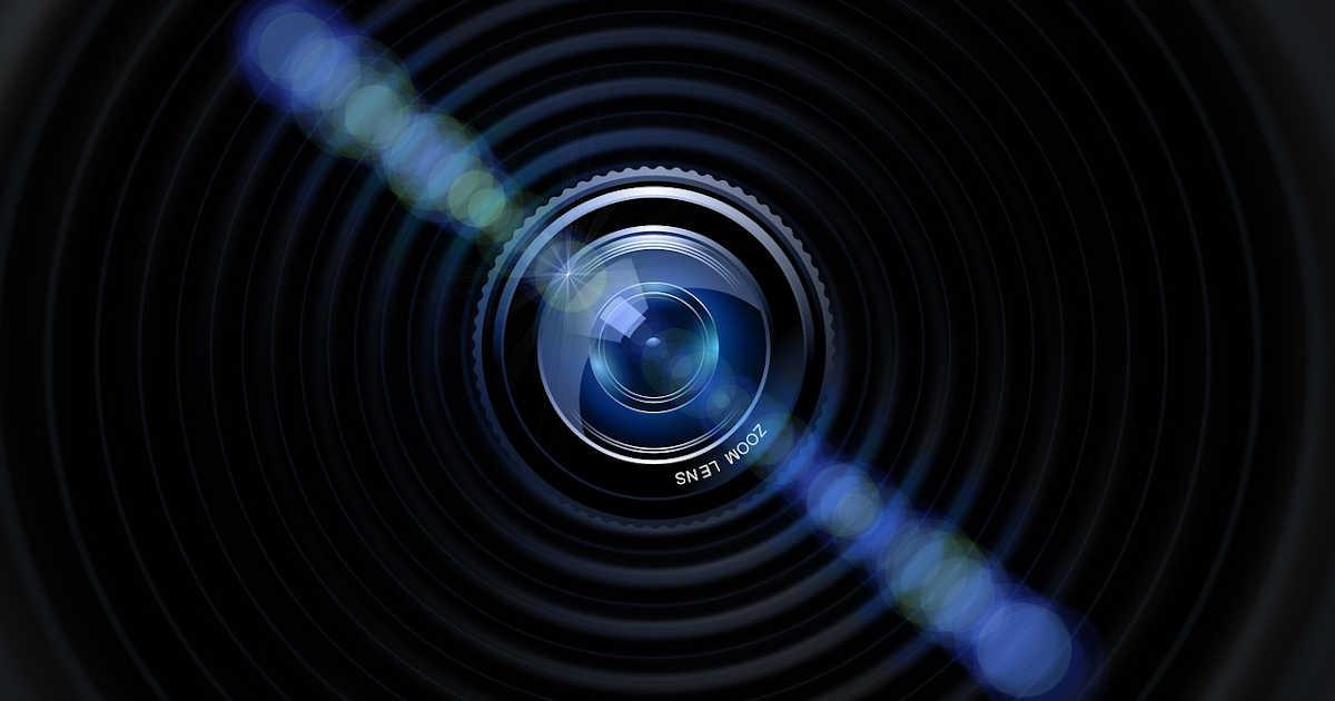 L'obiettivo di una webcam